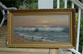 Nels Hagerup Antique Oil Painting Circa 1890 photo