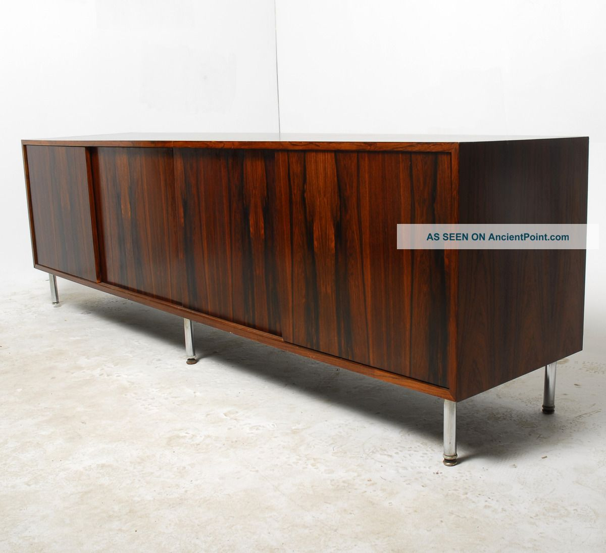 Stunning Long & Low Mid Century Modern Brazilian Rosewood Credenza Post-1950 photo