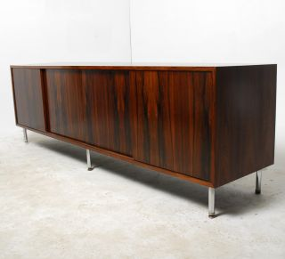 Stunning Long & Low Mid Century Modern Brazilian Rosewood Credenza photo