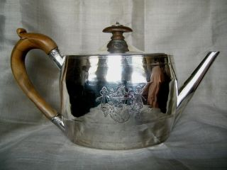 George Iii Period Sterling Teapot By Henry Chawner photo