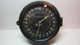 Chelsea Clock Co Boston Us Navy Wwii Porthole Style Bakelite Clock Not Working photo