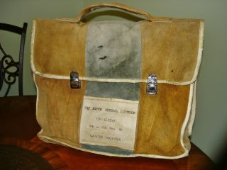 Carrying Bag General Assembly Of Cism Lagos Nigeria Vintage Leather Bag photo