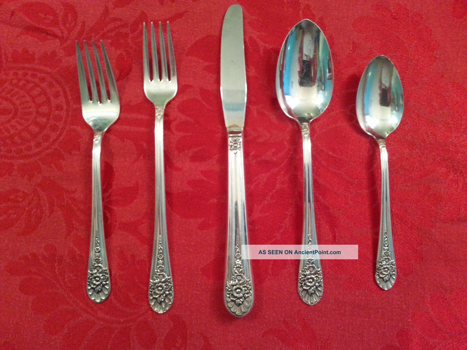 Wm Rogers/international Silver Jubilee 5 Piece Place Setting 1953 Silverplate Other photo