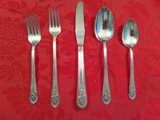 Wm Rogers/international Silver Jubilee 5 Piece Place Setting 1953 Silverplate photo