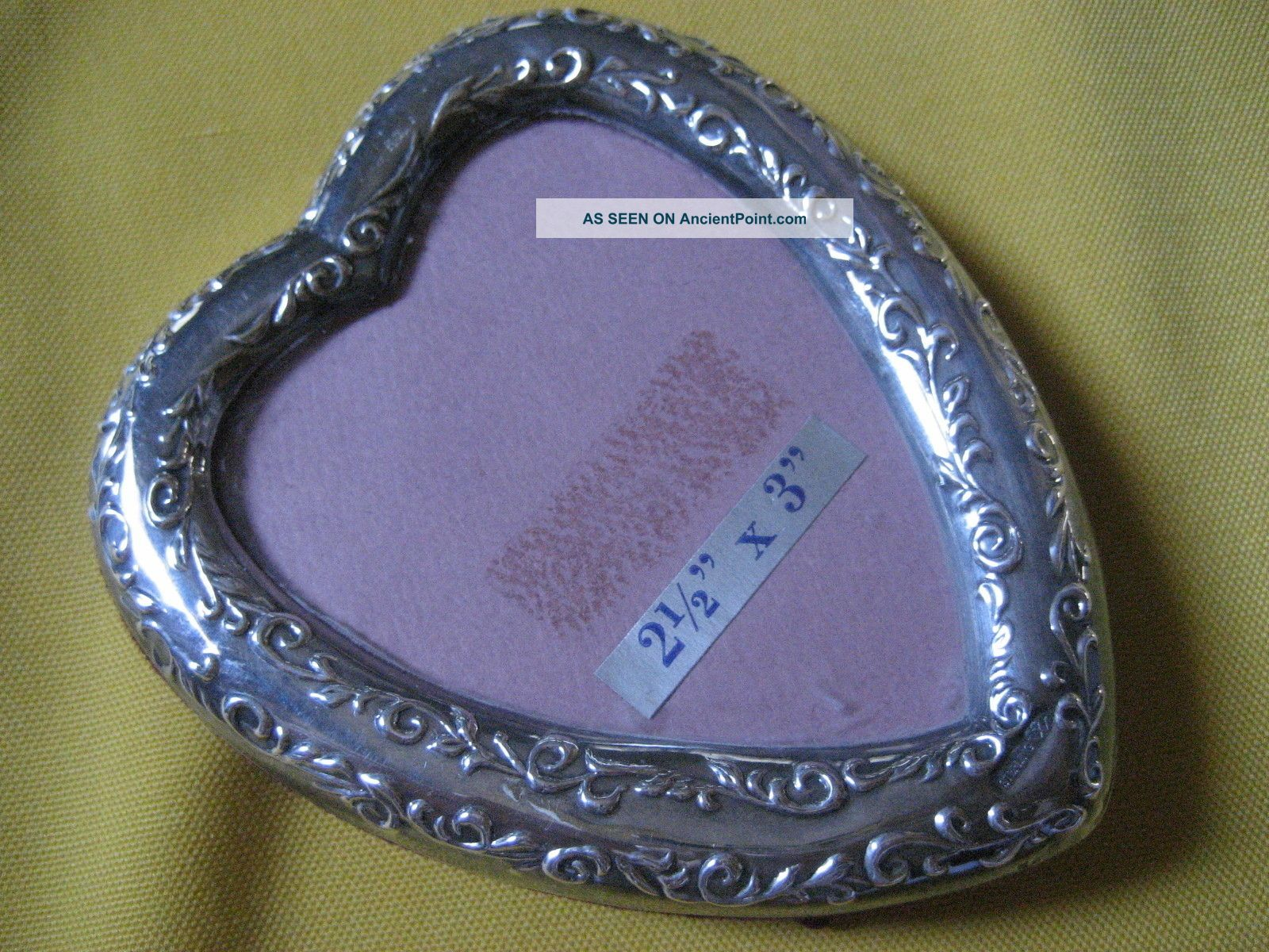 Vintage Sterling Silver Picture Frame Heart Design By Conn Harris West Other photo