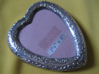 Vintage Sterling Silver Picture Frame Heart Design By Conn Harris West photo