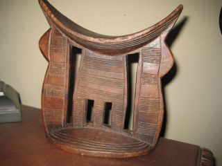Antique Vintage Gorgeous Ethiopian Headrest Fine Detailed Form And Engraved Rare photo