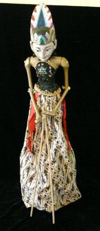 Large Old Wayang Golek Wood Puppet Yogyakarta Java photo