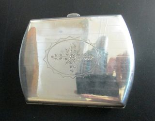 Art Deco Antique Germany 800 Silver Tobacco Cigarette Vesta Case Engraved Flower photo