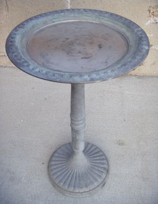 Old Art Nouveau Bird Bath.  Bird Feeder.  Garden Statuary.  Fast photo