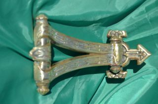 This Is A Brass Victorian Front Door Knocker From C1885 photo