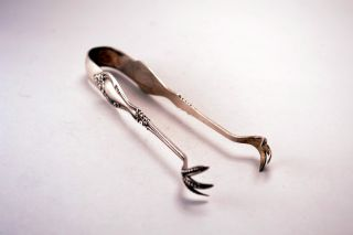 Estate Sterling Silver Blackinton Helena Sugar Tongs No Engraving photo