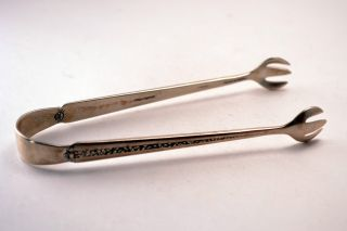 Estate Sterling Silver Towle Rambler Rose Sugar Tongs No Engraving photo
