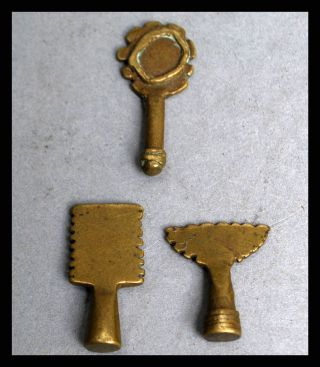 A Fine Group Of Accoutrements,  19 - 18thc Akan Gold Weight photo