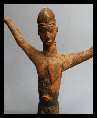 A Dynamically Moving Thil Figure,  Lobi Tribe Of Burkina Faso photo