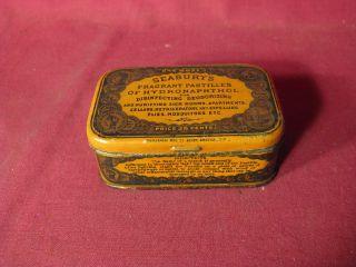 Antique 19th C Seabury ' S Fragrant Pastilles Etc Medicinal Advertising Tin photo