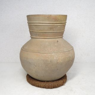 H837: Real Old Japanese Earthen Vessel Sueki.  The Vase More Than 1500 Years Ago photo