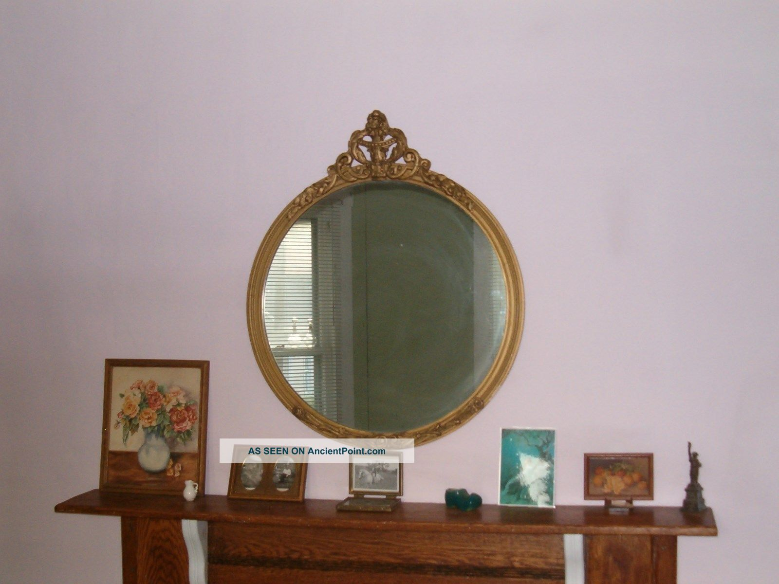 Antique Gold Round Mirror Round Designs