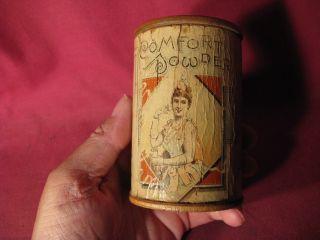 Antique 19th C Comfort Powder Paper Label Medicinal Advertising photo