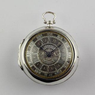 Solomon Julliott London 1740 Magnificent Pair Case Verge Fusee Spindeluhr Montre photo