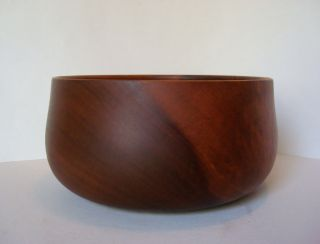 Master Dan Deluz Hawaiian Mulang Wood Vtg Turned Bowl Bob Stocksdale Era photo
