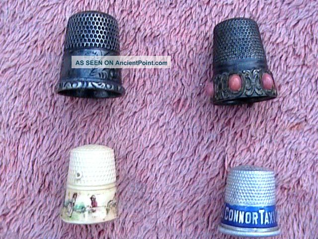 Vintage Sterling Thimbles 12,  Marked Underneath With Crest Plus 3 Others Thimbles photo