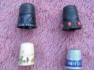Vintage Sterling Thimbles 12,  Marked Underneath With Crest Plus 3 Others photo
