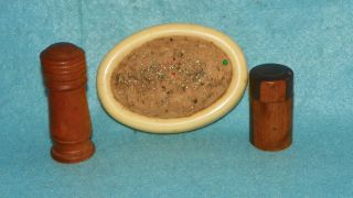 (2) Antique Victorian Wooden Needle Cases Treenware Vintage Sewing Collectibles photo