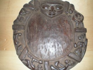 Yoruba Ifa Divination Board With Intricate Carvings photo