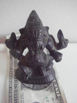 Ganesha Elephant Tibetan/indian Hindu Deity - Antique Bronze photo