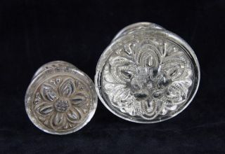 Ornate Glass Drawer Pull Set photo