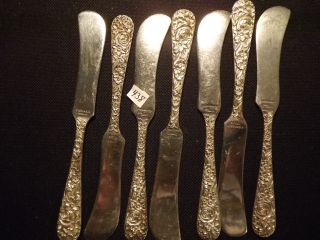 7 Pcs.  Kirks & Son Inc.  Butter Knifes Sterling Silver Not Srcap photo