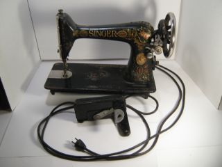 1924 Singer Sewing Machine G993079 Seling & Repair W/motor - Runs G photo