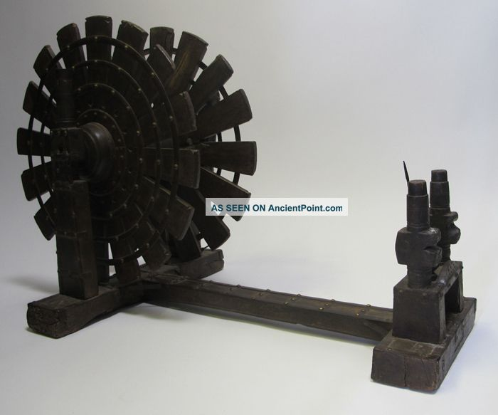 Antique Wooden Charkha Indian Spinning Wheel Colonial India Mahatma
