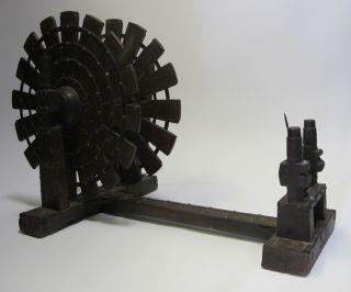 Antique Wooden Charkha Indian Spinning Wheel Colonial India Mahatma Gandhi Yqz photo