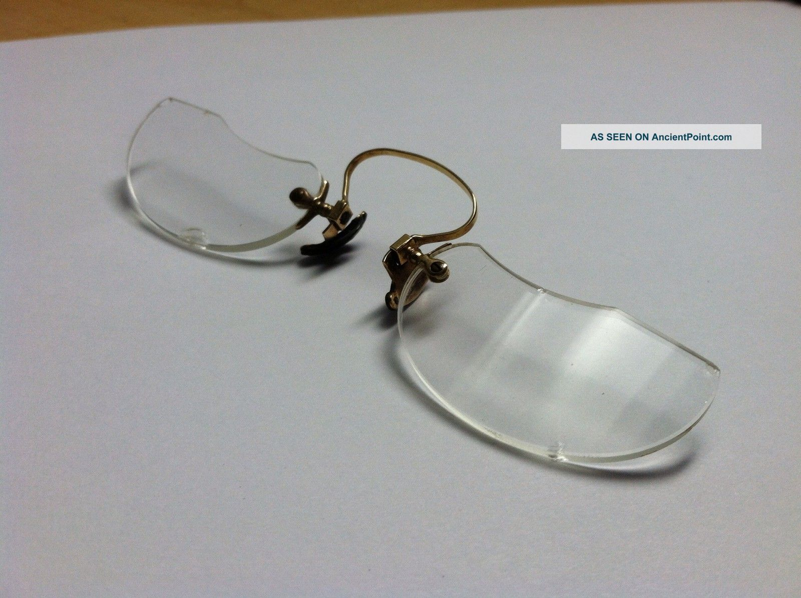 Early 1900s Antique 10k Gold Spectacles By Dachtera - Optical photo