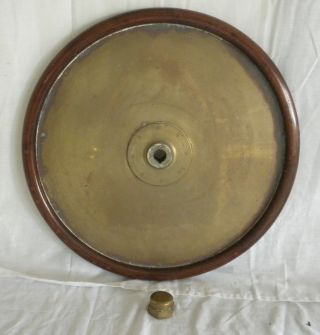 Us Navy Wwii Ship Steering Helm Wheel Dd692/710 Class Destroyer,  Brass,  Mahogany photo