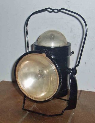 C1960 Maritime Wharf Or Railway Security Guards Hand Lamp photo