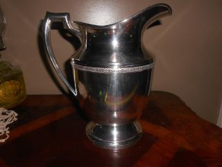 Benedict Silver Plate Water Pitcher photo