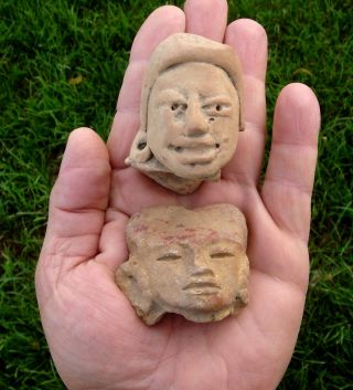 Head Effigies (pair) Chupicuaro Pre - Columbian,  Western Mexico photo