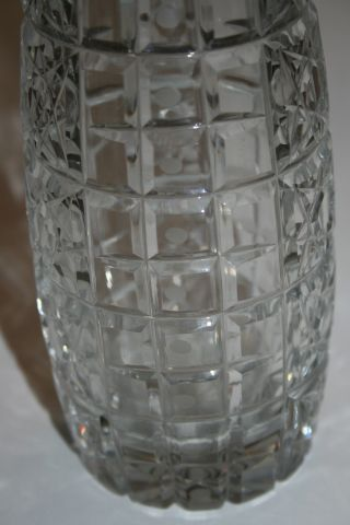 Soviet Union/ussr Antique Cut Crystal Vase 11