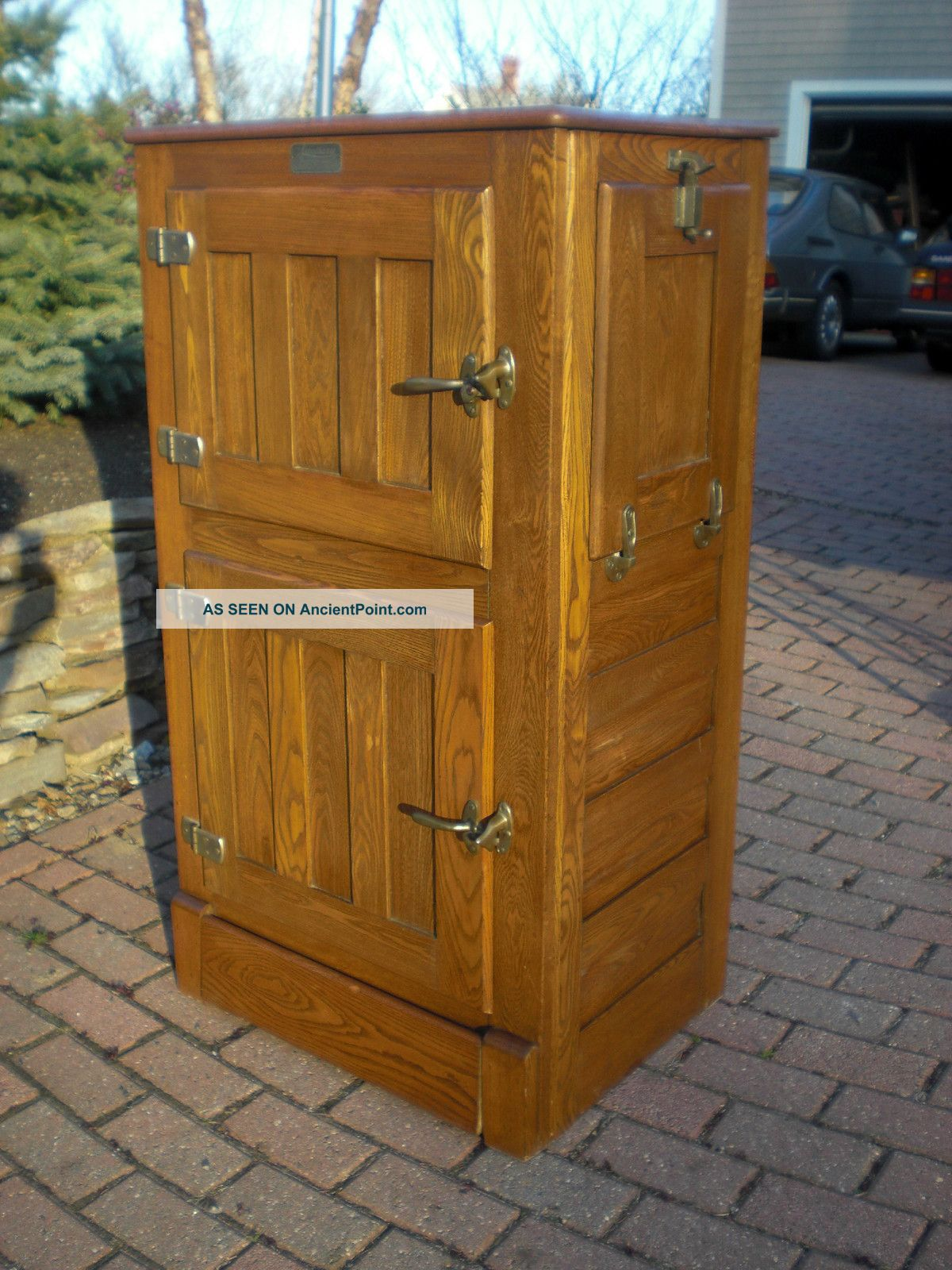 Antique Oak Ice Box Refrigerator Best 2000 Antique