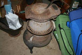 Rare 1873 Antique Cast Iron Pot Belly Stove Meteor No.  11 photo