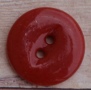 Nbs Medium Dark Red China Button Fisheye Fish Eye 13/16