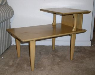 Heywood - Wakefield Step End Table Excellent Cond M 1574 G photo
