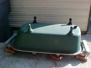 Antique 1934 Standard Porcelain Cast Iron Clawfoot Claw Foot Bath Tub 5 1/2 ' photo