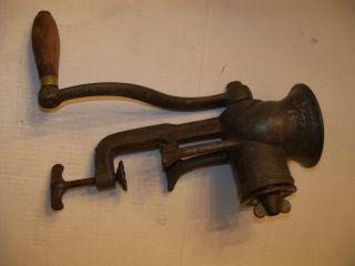 Antique Old Metal 1892 Sargent Co Usa No 24 Gem Food Chopper Meat Grinder Tool photo