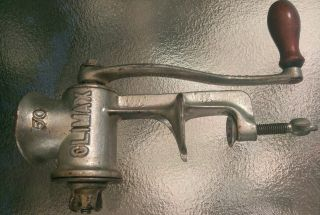 Antique L.  F.  &c.  New Britain Conn Climax 50 Metal Meat Grinder Old Kitchen Tool photo