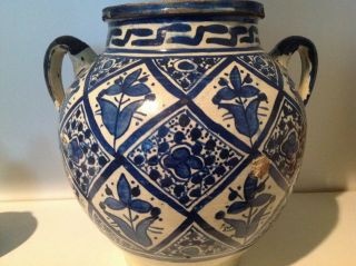 Antique Moroccan Large Pot /vase photo