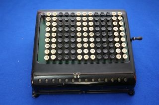 Vintage 1920 ' S Burroughs 13 Row Calculator Adding Machine Keyboard Office H549 photo